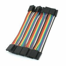10pcs 254mm Pitch 4pin 4pin Ff Solderless Jumper Cable Wire Connector 110mm