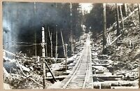 Train Tracks RPPC Postcard Sierra Nevada Mountains Real Photo 1922 Posted