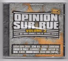 CD RAP FRANCAIS / OPINION SUR RUE VOLUME 2 (NEUF SOUS CELLO) SCRED CONNEXION