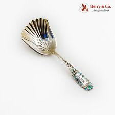 Victoria Old Candy Nut Scoop Enamel Watson Sterling Silver 1890