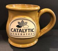 "Deneen Pottery Catalytic Generators Handled Coffee Mug Norfolk VA 3.5"" Tall"