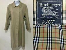 Designer Burberry London - Ladies Trench Coat, Size UK 16 petite long beige mac