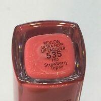Revlon Ultra HD Lip Lacquer Lipstick 535 Strawberry Topaz NEW