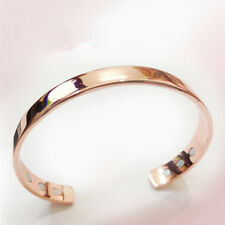 Women Rose Gold Beautiful Bracelet Magnet Stone Energy Cuff Copper Bangle Gift