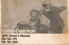 1976 Harley-Davidson SS / SX-175 / 250 - Motorcycle Owner's Manual