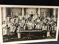 1930s School Children Group Holding Accordions RPPC Postcard Music Xylophone