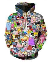 New Fashion Women/Men Adventure Time 3D Print  Pullover Hoodie Sweatshirt S155