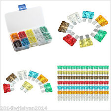 100pc Assorted Auto Car Low Profile Micro Blade Fuse 5A 7.5A 10A 15A 20A 25A 30A