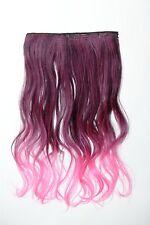 Extension cheveux Clip-In 5 clip bouclée bicolore Ombre Rose 50cm lang