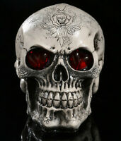 Halloween Party Decoration LED Luminous Demon Skull Evil Skeleton Resin Model