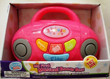 My First Musical Boom Box Player,W/ Lights,Sounds,Tunes,Color : Pink,Kids 3+,New