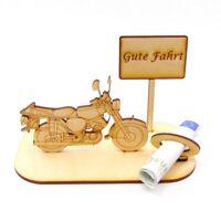 Geschenk zum Moped Führerschein, DDR Motorrad, Geld genial verschenken Holz