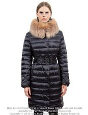 * Goose Down Coat Jkt Parka Пуховик w/ Crystal Fox Fur sz M  US 8 EU 40 $895 NWT
