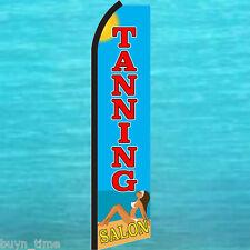 TANNING SALON FLUTTER FEATHER FLAG Swooper Vertical Advertising Sign Banner 1879