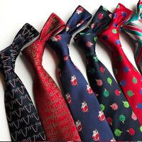 2019 Men's Tie Classic Christmas Disguised Silk Jacquard Jubilant Necktie New