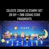New Horizons Celeste Zodiac Starry DIY Set + Star Fragments ACN H