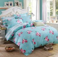 Floral Bedding Set Cotton Quilt Duvet Cover with Pillowcase Twin Queen King Size