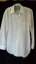 Retro vintage GLO WEAVE 4 SEASONS mens dress shirt easy care terelyne size 38 gc
