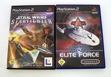 Playstation 2 Spielesammlung - 2 Spiele Star Wars & Star Trek Voyager OVP