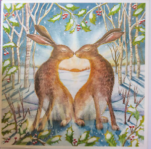 Wendy Andrew Pagan yule christmas solstice Hare fox Card Family wife card packs
