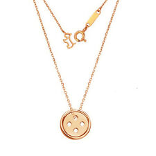 As Cute As a Button Sterling Silver Necklace Pendant Rose Gold Yellow Gold