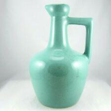 "Uhl Pottery Jug Turquoise Speckled Glaze 8.5"" USA"