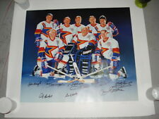 1994 ZELLERS MASTERS OF HOCKEY CARD POSTER AUTOGRAPH SIGNATURES 394/600 LTD.HULL