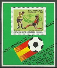 Nicaragua Sport Coupe Monde Football FIFA World Soccer Cup Fußball ** 1982 Bloc