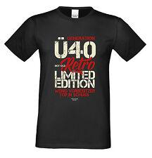 Herren T-Shirt Geburtstag zum 40.ten Geschenk Generation Ü40 Farbe: schwarz