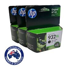 3 x Genuine HP932XL Black Ink Cartridge For HP Officejet 6100 6600 6700 7612