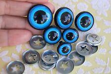 Ojos de seguridad azul 24 mm para osos de peluche amigurumi juguetes animales