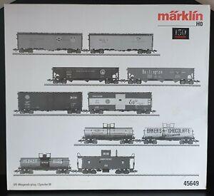 MÄRKLIN MARKLIN H0 Digital USA Wagenset 10 Stück 150 Jahre Nr. 45649 wie neu