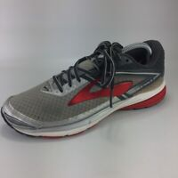 Brooks Ravenna Mens Running Sneakers Silver Lace Up Round Toe 1102482E067 8 EE