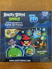 Angry Birds Space Super 3D 150 Piece Puzzle Rovio New in Box 12×18 Kids Puzzle