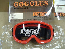 Emgo Red Sports Goggles with Clear lens (On hand free shipping)