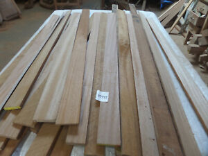hardwood timber sapele 34 lengths @ various sizes (15999BR) off cuts fretwork