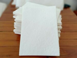 A5 of Handmade Mulberry Paper 20 Sheets Natural White Invitation Art Craft