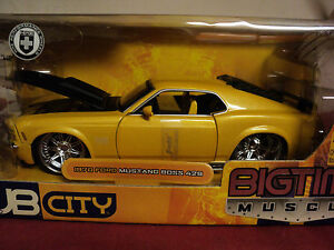 Jada 1970 Ford Mustang Boss 429 1:24 Scale NIB 2004  release very detailed
