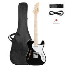 Gtl Semi-Hollow Electric Guitar F Hole Ss Pickups Maple Fingerboard Black