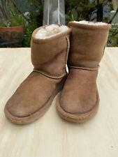 UGGS kids classic II waterproof short brown suede boots size 10