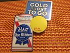 Pabst #P-1564 COLD PABST TO GO sticker wall sign 12 oz CAN 1974 VINTAGE NOS C