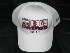 VINTAGE BOSTON RED SOX 2004 WORLD SERIES LOCKER ROOM HAT CAP FLEX FIT - WHITE