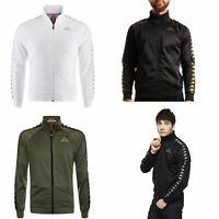Kappa Anniston Slim 222 Banda Full Zip Fleece Track Top Jacket White Black Green