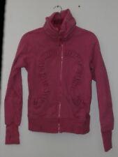 Lululemon Athletica Sz 6 Cuddle Up Jacket Sweatshirt Sparkle Dark Pink Zip Up