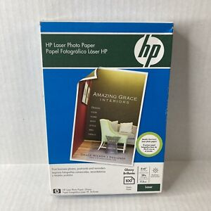 HP Color Laser Glossy Photo Paper 100 Sheets 4 x 6 Glossy Business Postcards NEW