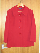 Ladies Tailored Wool Blend Coat - Red - Size 18 - NWOT