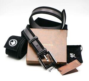 NWT STEFANO RICCI Leather Luxury BELT Buckle Logo SR Size 90 cm Us 36-37 C8