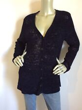 Brooks Brothers Women Navy Blue Long Sleeve Cardigan v-Neck Sweater Size S -$136