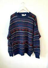 Urban Outfitters Vintage Renewal Blue Wool Blend Fair Isle Jumper Size  XL 14-18
