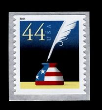 2011 44c Patriotic Quill & Inkwell, Coil Scott 4496 Mint F/VF NH